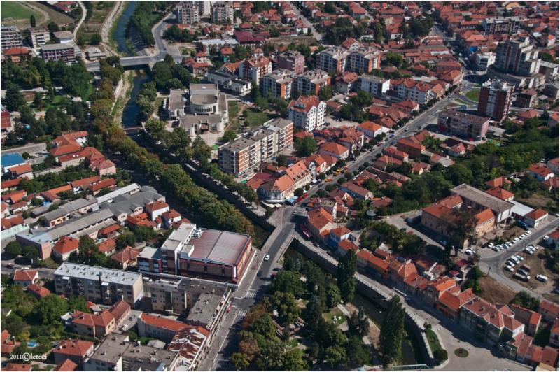 Авио снимак центра Књажевца