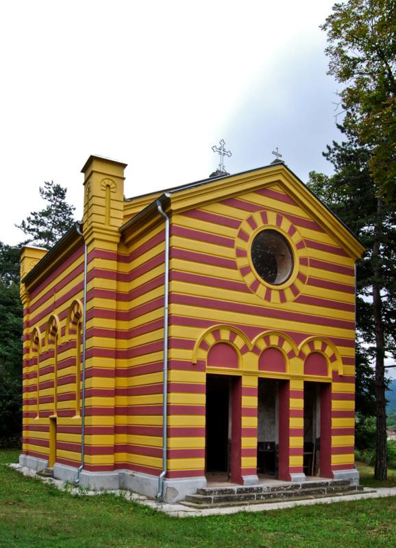 Црква Св. Пантелејмона у Жлну, 1890. арх. Јован Илкић