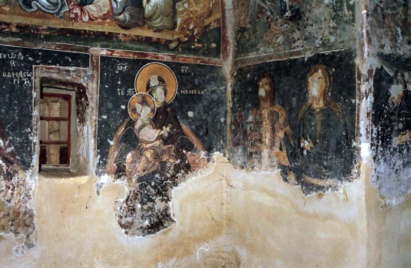 Детаљ живописа ис цркве Св. Богородице у Доњој Каменици, XIV век