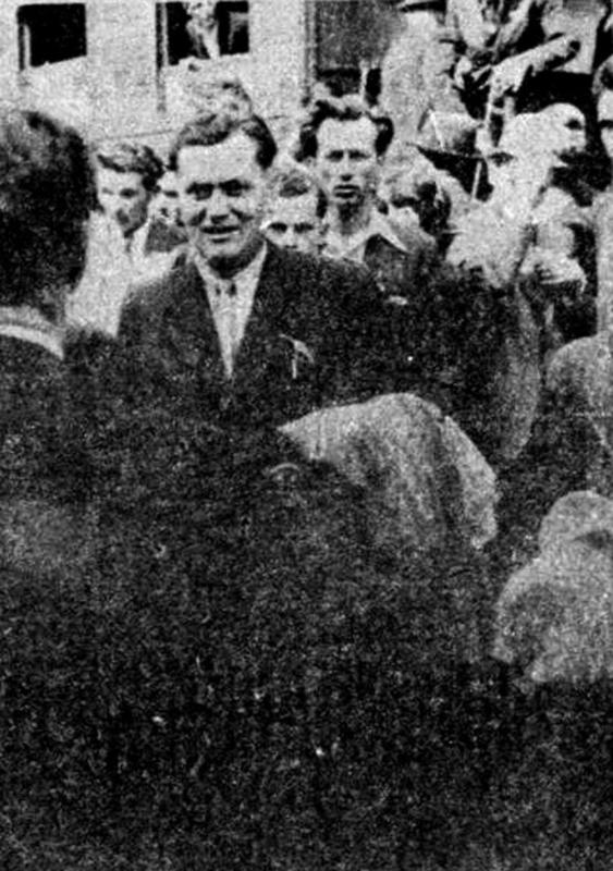 Дочек Стевана Јаковљевића на железничкој станици у Књажевцу 1939.