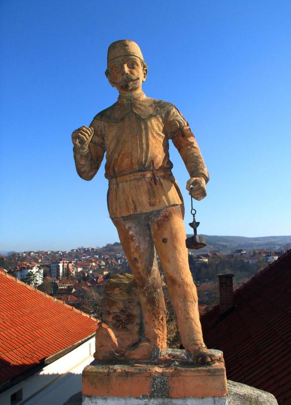 Фигура рудара са куће Сибиновића, данас Завичајног музеја