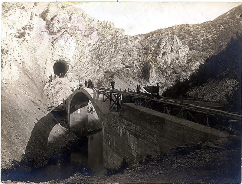 Изградња моста 1921.