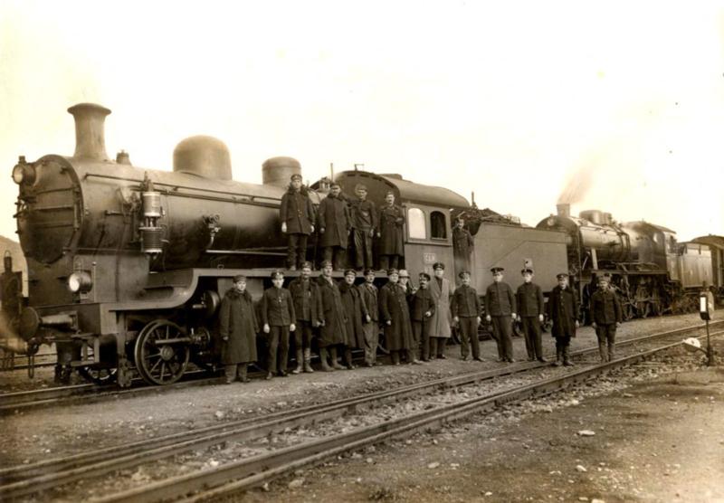 Композиција са парном локомотивом