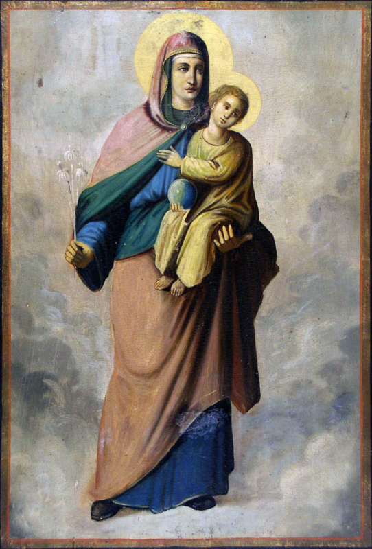 Милисав Марковић, Икона Пресвете Богородице са Христом, уље на дасци, крај XIX века