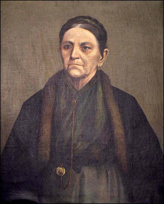 Милисав Марковић, Портрет Саре Аничић, уље на платну, крај XIX века