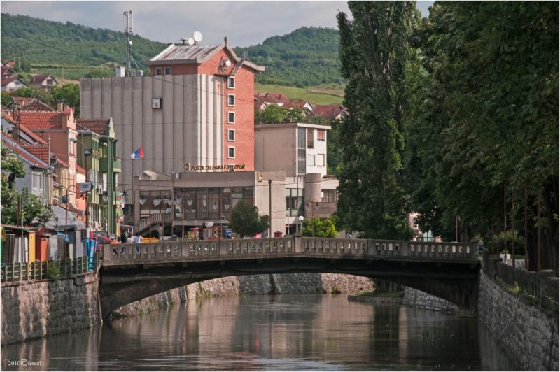"""Најстарији сачувани мост у Књажевцу, такозвани """"камени"""" тј бетонски мост у центру града"""