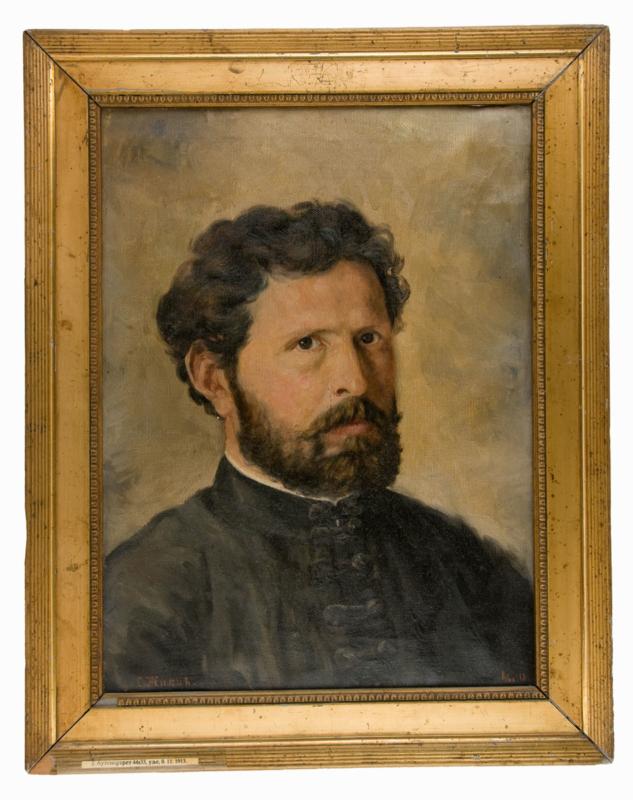 Сима Жикић, Аутопортрет, уље на платну, 1913.