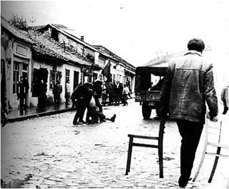 """Снимање """"Заседе"""" у старој чаршији у Књажевцу"""