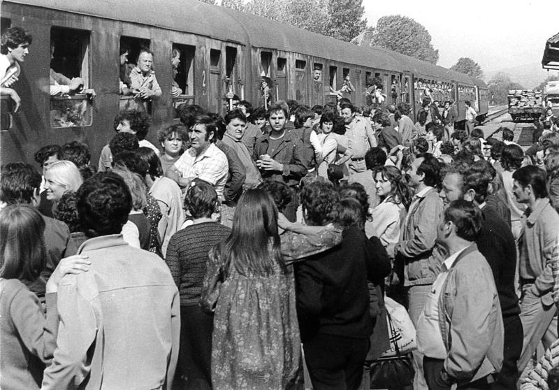 Железничка станица седамдесетих