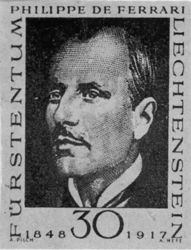 Поштанска марка филателисте Филипа Ферарија